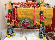 Pooja Room Decoration for Krishna Janmashtami