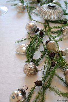 **- mercury glass ornaments