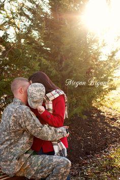 Military couple. Danville, Virginia Photographer. Megan Bryant Photography.