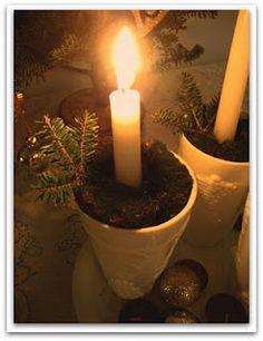 cute advent candle holder idea