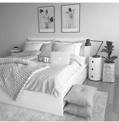 Your bedroom needs to be friendly and reassuring so, minimalist our current, here you get all that you require. Cute Bedroom Ideas, Room Ideas Bedroom, Girl Bedroom Designs, Small Room Bedroom, White Bedroom Decor, Bedroom Rugs, Cozy Bedroom, Girls Bedroom, Master Bedroom