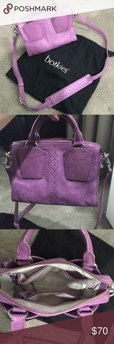 Purple Botkier Designer Handbag purple handbag by botkier with shoulder strap, comes with original dust bag for safe storage, bag was lightly worn, looks like new, silver hardware Botkier Bags Mini Bags