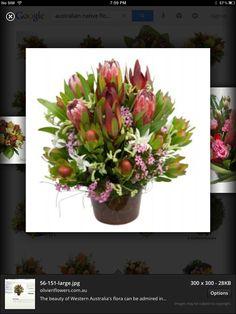 Love this Australian native floral arrangement. Beautiful colours and textures.