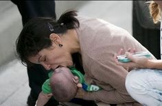 Watch the dramatic moment a women saved this young baby's life with CPR on a busy highway. Faith in Humanity: Restored..