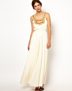 5 Summer Maxi Dresses You'll Love | theglitterguide.com. Love the embellished neckline on this one!