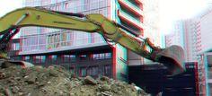 https://flic.kr/p/TapR1E | Demolition Jufferstraat Up:Town Rotterdam 3D | anaglyph stereo red/cyan Wijnhaveneiland