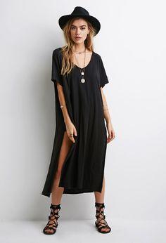V-Neck Side-Slit Dress | FOREVER21 - 2002246951