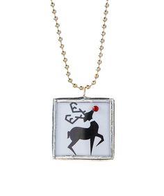 Loving this Reindeer Pendant Necklace on #zulily! #zulilyfinds