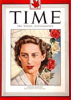 1949 original vintage Time magazine cover featuring HRH Princess Margaret.