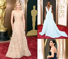Best Dressed Stars at the 2014 Oscars, 'ceptin' the over kohled eyes o' Bullock.