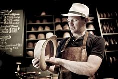 Graham Thompson of Optiom Fine Hats, Chicago IL (Portrait of an American Craftsman by Tadd Myers) Hat Tip, Classic Hats, American Craftsman, Business Portrait, Its A Mans World, Passionate People, Video Photography, Hats For Men, Character Inspiration