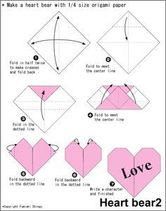 fold out heart cards - Google Search