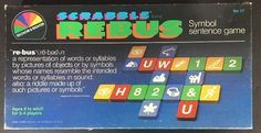 Scrabble Rebus Symbol Sentence Game Reading Writing Tutor Homeschool Vtg 1986  | eBay