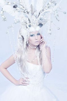 ice snow queen | ... TO ORDER Ice Queen Whimsical Antler by ... | Snow Queen Costume