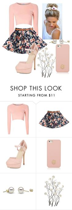 """Pretty in Pastel"" by pandagirl2102 ❤ liked on Polyvore featuring Glamorous, Tory Burch and Universal Lighting and Decor"