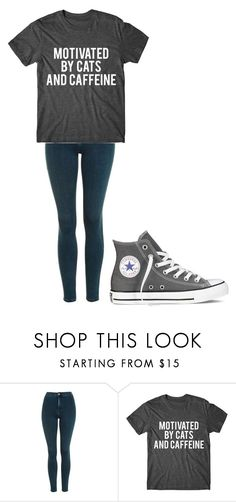 """Untitled #301"" by thenerdyfairy on Polyvore featuring Topshop and Converse"