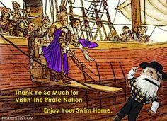 Thanks for visiting the Pirate Nation.    Enjoy your swim home.    ECU East Carolina