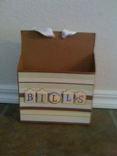 Made out of a cereal box! Thanks for the idea pinterest :)