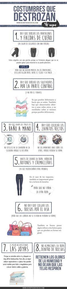 Costumbres que destrozan tu ropa
