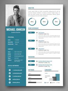 mejores plantillas curriculum infografia word VIGO If you like this cv template. Check others on my CV template board :) Thanks for sharing! Cv Resume Template, Resume Design Template, Creative Resume Templates, Best Cv Template, Free Resume, Icones Cv, Modelo Curriculum, Word Cv, Curriculum Template