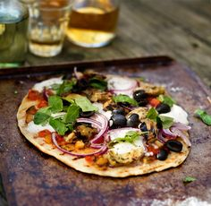 Vegetable Grilled Pizza