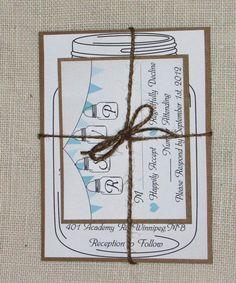 Rustic Lace and Burlap Wedding Invitation Suite