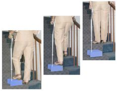 EZ-UP Benefits: walking stability of a standard quad cane reduce the pain of stair climbing make stairways easier to go up and down work on any kind of stairway very lightweight http://www.ez-step.com/