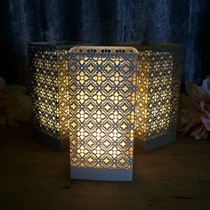 Transform your special event with beautiful lighting. Our Tuscan laser cut luminary will set a tone with its intimate, romantic glow. Laser Cut Paper, Romantic Wedding Decor, Battery Operated Lights, Tuscan Design, Paper Lanterns, Paper Lamps, Unique Lighting, Lighting Ideas, Geometric Designs