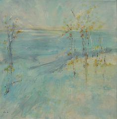 WINTER (SOLD) Scandinavian Landscape. 40 X 40 X 2 CM.