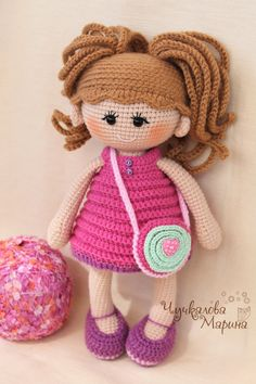 Toy crochet pattern Pumposhka doll PDF by MyCroWonders on Etsy