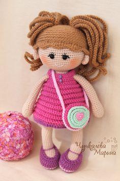 Toy crochet pattern Pumposhka doll PDF by MyCroWonders on Etsy