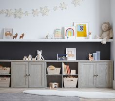 Loft Playroom, Modern Playroom, Playroom Organization, Playroom Design, Playroom Decor, Playroom Ideas, Kids Playroom Storage, Dining Room Playroom Combo, Finished Basement Playroom