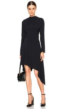 c3d92d6b5805 Marni Stretch Cady Asymmetrical Dress in Abyss New Frock
