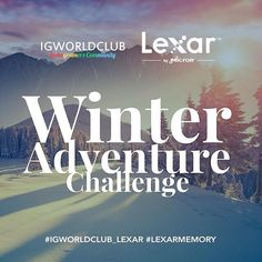 I G W O R L D C L U B  L E X A R | C H A L L E N G E  T H E M E | Winter Adventure tag your best winter shots. T I M I N G | Start: Jan 23 End: Jan 30 Winner: Jan 31  R U L E S  Put the Tag #igworldclub_lexar #lexarmemory to be entered  Must be following @igworldclub @lexarmemory  Post new photos and tag the between timeframe.  Lexar to selects winner based on theme and creativity  P R I Z E S 1st: 64 GB Lexar Professional SD 2000X  Lexar Professional USB 3.0 Dual Slot Card Reader 2nd: 64 GB…