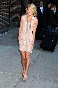 Kelly Ripa, cute in dress