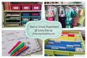 Sunny Side Up: Back to School Organization Wow! Some serious organisation here! Love the wardrobes! Homework Organization, Back To School Organization, Organization Station, Paper Organization, Organizing Ideas, Organising, 1st Day Of School, School Daze, I School