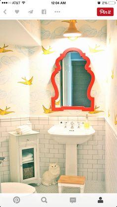 Whimsical Bathroom Via Colorissue