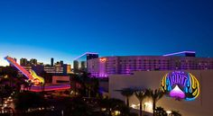 Hard Rock Hotel and Casino Las Vegas Designed having the rock-star lifestyle in mind, Hard Rock Hotel features a 3-acre outdoor pool hosting parties with world-famous acts. It offers the chance to play a round at black-jack while swimming at the water edge.