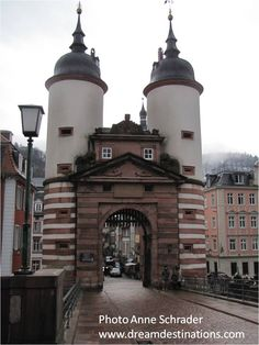 Tower entrance to Heidelburg bridge, Heidelburg, Germany