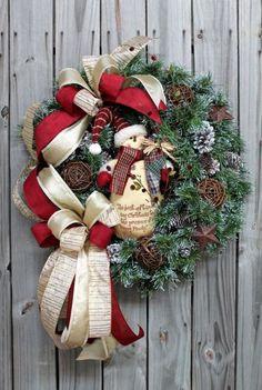 Snowman Christmas wreath decoration