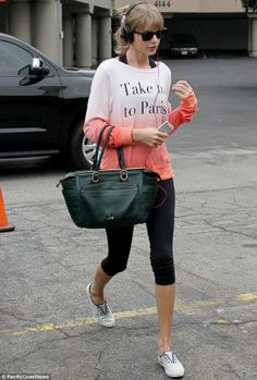 Let's go! Taylor Swift hit up a dance studio in Los Angeles on Wednesday, less than 24 hours after flying back from South Africa