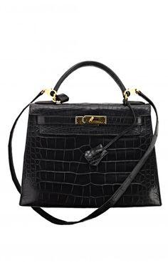 Vintage Hermes Black Alligator Kelly Bag: Sie ist einfach die schönste,berühmteste und zeitloseste Tasche der Modegeschichte... und auch ein schöner Tagtraum ;)