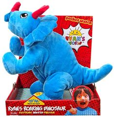 Ryan's World Roaring Dinosaur - Blue Triceratops Toy for sale online Spy Gear For Kids, Dinosaur Background, Kids Toys For Christmas, Nerf Accessories, Ryan Toys, Little Live Pets, Kids Room Organization, Miraculous Ladybug Funny, Barbie Toys