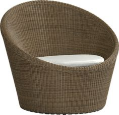 Love this outdoor chair!!!  Calypso Mocha Swivel Lounge Chair with Sunbrella® White Sand Cushion  | Crate and Barrel