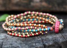 Colorful Lula Brass Bracelet by brasslady on Etsy