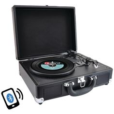 PYLE HOME PVTTBT6BK Bluetooth(R) Classic Turntable with Vinyl to MP3 Recording