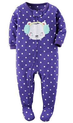 Carter's Baby-girls' 1 Pc Fleece Footed Blanket Sleeper Pajamas ...