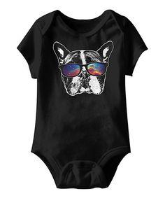 Black Space Shades Dog Bodysuit - Infant | zulily