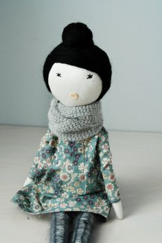 Reserved for Ma-an/ Soft doll, handmade, retro, one of a kind / Mari