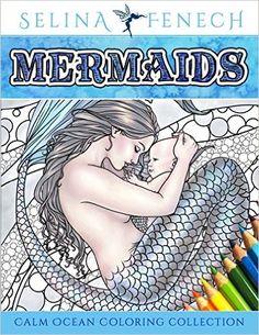 Mermaids - Calm Ocean Adult Coloring Book - GoGetGlam